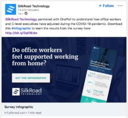 LinkedIn post Silkroad Technology