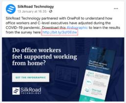 Facebook post Silkroad Technology