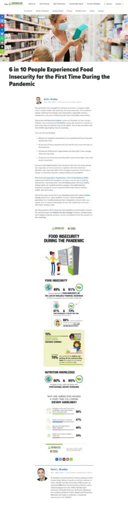 Herbalife Food Insecurity Survey Blog Post