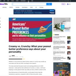 Jif Yahoo coverage