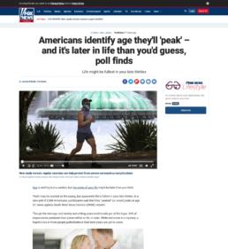 Screenshot of Fox News CBDfx survey story coverage