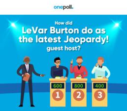 OnePoll survey asks how LeVar Burton did as Jeopardy guest host