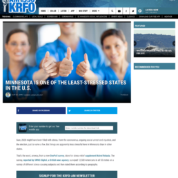 KRFO coverage of the Natrol survey story: Most Stressed State