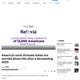 Yahoo coverage of the Natrol survey story: Most Stressed State