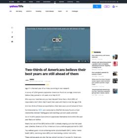 Screenshot of Yahoo CBDfx survey story coverage