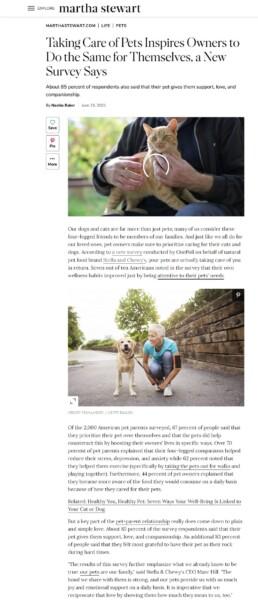 Stella & Chewy's Pet Appreciation survey story - Martha Stewart
