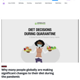 Yahoo coverage of Herbalife Pandemic Diet Decisions research